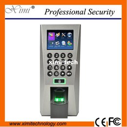 Wholesale Rfid Tcp Ip - F18 fingerprint access control with TCP IP USB door access control system linus system optional RFID card and MF card fingerprint reader