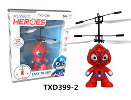Wholesale Ball America - cartoon Hero Air RC Flying Ball 3 styles Hero batman spiderman flying ball Captain America hero Kids Teenagers Flying toys