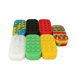 Wholesale Wax Cans Wholesale - Nonstick Wax Containers 6+1 silicone box big wax can Silicon container Colorful Non-stick wax jars dab storage jar oil vape pen holder