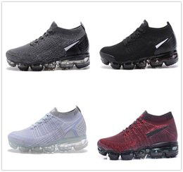 Wholesale Mens Leather Walking Shoes - 2017 Vapormax Mens Running Shoes For Men Sneakers Women Fashion Athletic Sport Shoe Hot Corss Hiking Jogging Walking Outdoor Shoe