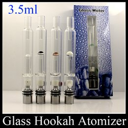 Wholesale E Cigarette Replaceable Filters - Pyrex Glass Hookah Atomizer Dry Herb Wax Vaporizer Pen Water Filter Pipe E Cigarette Bongs PK Mutation X V4 RDA ATB031