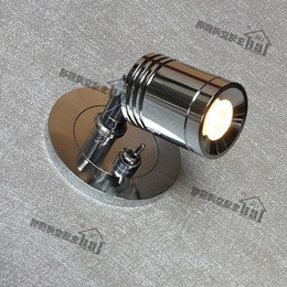 Wholesale Position Design - Wall Recessed Lights with on-off switch 3W CREE LED Position flexible Exquisite design Elegant Comfortable without glare Chrome finish