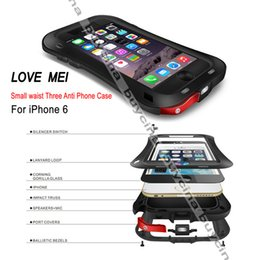 "Wholesale Proof Love - 1 pcs Free shipping Love Mei Small waist Waterproof Case for iPhone 6 Case 4.7"" water dust shock proof Cell phones cases"