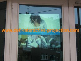 Wholesale Rear Adhesive Projection - Wholesale-!! Self adhesive Dark grey rear projection screen foil of 1.5m * 0.6m and another color A4 size