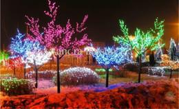 Wholesale Cherry Light Tree Green - 1.8M height 1152LEDs Pure White blossom cherry tree christmas tree light for Home Garden wedding party Chrsitamas decor free shipping