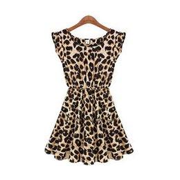 Wholesale Wholesale Leopard Bodycon Dresses - Wholesale-2015 Leopard Vestido De Feta Bodycon Clothing Sexy Dresses Summer Casual Dress Women Sexy Club Robe Femme Plus Size XXL H857