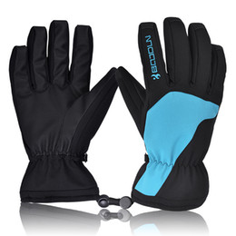 Wholesale Kids Cycling Gloves - Men's Thicken Full Finger Skiing Gloves Windproof Waterproof Winter Outdoor for Hiking Riding Cycling Warm Sportswear men ski kids skigloves