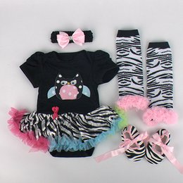 Wholesale Girls Legging Shorts - Princess tutu romper 4pc Set Party dress tutu Skirt & Ruffles Leg Warmers & shoes & headband & crib shoes 12 color U pick 6 sets lot