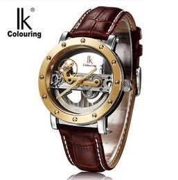 Wholesale Man S Wrist Watch - Creative Fashion Brand Designers Watches Men Luxury Automatic Self Winding Wrist Watches Male Clock Gift Whatches IK (98393G-S)