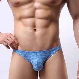 Wholesale Mens Mini Thongs - Cotton Sexy Mens Underwear Mini String Homme Jockstrap Gay Tanga Hombre Mens Thong Underwear