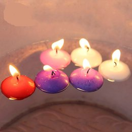Wholesale Purple Flameless Candles - 20pcs Small Unscented Floating Candles for Wedding Party Home Decor Candles