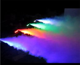 Wholesale Led Smokes - Hot amazing led 400W LED discolor mini stage smoke machine remote control red green blue mixed color dj disco party fog machine