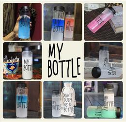 Sacs corée design en Ligne-2016 Mon bouteille d'eau Bouteille Corée Style Nouveau Design Creative portable en plastique spécial Bouteilles D'eau De L'Eau Drinkware Avec Sac