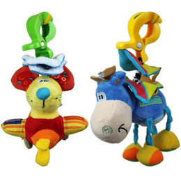 Wholesale Baby Donkey Toy - Baby Toys Infants Toys Baby Toys Hot Children Early Education Infants Toys New Kids Little Donkey Mice to Hang a bell with Clip