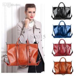Wholesale Satchel Hobo Bags - Details about Genuine Oil Leather Handbags Womens Shoulder Bags Tote Vintage Hobo Satchel bags