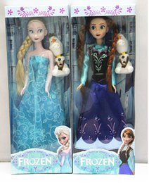 "Wholesale Toys For Baby Musical - 2014 New Arrival 11.5inch Frozen Musical Doll Anna and Princess Elsa with Olaf with music ""let it go "" Best Music Toys For kids baby girls"