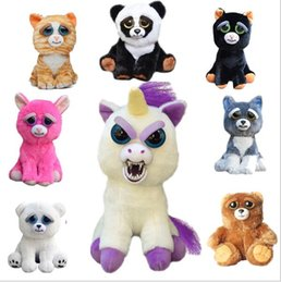 Wholesale Funny Animal Face - Feisty Pets Change Face Unicorn Plush Toys for Boys With Funny Expression Stuffed Animal Dolls Christmas Kids Toys for children