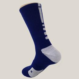 Wholesale Long Striped Socks For Men - hot selling elite thick cotton sport socks knee hight cotton towel men basketball Socks long custom elite sock deodorant for men