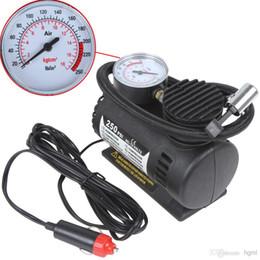 cobre rca plugs Desconto Inflador elétrico do pneumático do compressor de ar da bomba de 12V 250PSI para motocicletas / Electromobile / Canoeing CEC_010