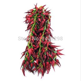 Wholesale Artificial Flower Strings - Bunch Of Artificial String Faux Chilli Fake Fruit House Kitchen Party Art Deco Pack Of Flowers
