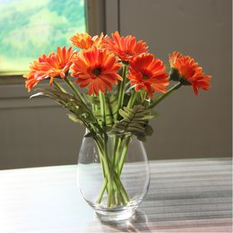 Continental Tatu Transparent Glass Vases Stylish Home Living Room Dining Table Decoration Floral Flower Vase
