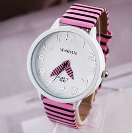 Wholesale Womage Quartz - 8 colors New Fashion PU Leather strap WoMaGe Zebra Watches For Women Dress Quartz Watches Christmas Gift Free Shipping