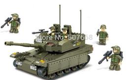 Wholesale Enlighten Brick Military - 20sets lot B0305 344pcs Building Block Sets Toy Educational Enlighten Bricks Military Army Makava Tank Model