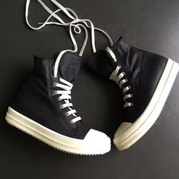Wholesale Best Sewing - classical original quality 2017ss Rock DRKSHW LUXURY TPU genuine leather high top canvas best quality owen boot