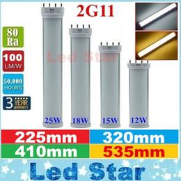 Wholesale T8 Led Tube 12w - LED 2G11 Tube Light Bulb 12W 15W 18W 25W SMD 2835 LED Tube Lamp 4Pin 225mm 320mm 410mm 535mm AC 85-265V
