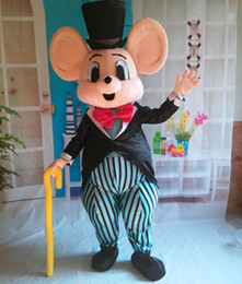 Wholesale Mascot Costumes Sale - 100% real photo Good vision good Ventilation big ears rat mascot costume adult mouse mascot costume for sale