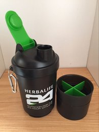 Wholesale Portable Space - Herbalife 24 fit 500ml Sports Shaker Bottle Fashion Frozem Portable Space Cup Resistant Sports Nutrition Water Bottle
