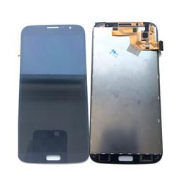 Mega touch онлайн-Супер AMOLED ЖК-дисплей с сенсорным экраном дигитайзер для Samsung Galaxy Mega 6.3 i527 i9200 i9205 белый / синий с закаленным стеклом DHL логистики