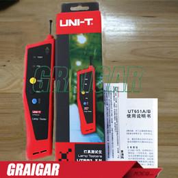 Wholesale Led Bulb Tester - Lamps tester UNI-T UT651A Handheld Led Fluorescent Light Bulbs Tester w Flashlight Lamp Luminometer Photometer Measure Tester