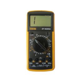 Wholesale Meter Ammeter - Freeshipping DT9205A Amp Meter Tester Handheld Digital Multimeter DMM Capacitance Triode & hFE Test Multimetro Ammeter Multitester