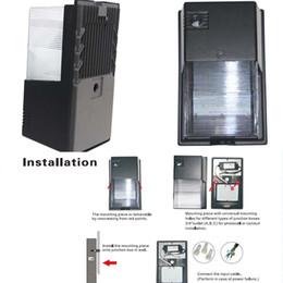 supporti per pareti esterne Sconti AC100-277V 20W led wall pack luce fotocellula sensore 20W parete esterna a led lampada 5 anni di garanzia CE ETL