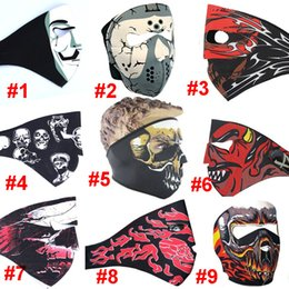 Wholesale Motorcycle Full Mask Winter - NEWest Motorcycle Cycling Sport Men Neoprene Full Face Mask Snowboard Ski Cycling Winter Caps Masks