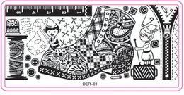 Wholesale Designer Templates - 10 pcs 12*6cm, 32 designs numbers,100% New Arrival nail art image designer plate stamping templates stamp stencil steelseries 2015