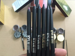 Wholesale Gel Color Dryer - New Kylie Cosmetics brithday edition kylie kyliner eyeliner and gel Gel pot Brush liner 6 types black  brwon chameleon bronze shipping free