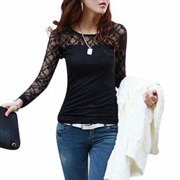 209eddb802850 Argentina Al por mayor- Blusas Femininas 2015 primavera otoño moda para  mujer Sexy Slim Tops