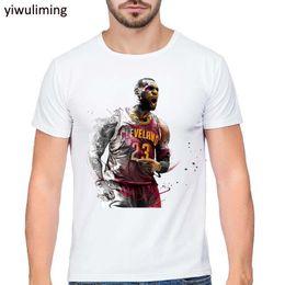 Wholesale Funny Cartoon Shirts - LeBron James Print T shirt 2017 Summer Brand Funny Cartoon design Men t-shirt Man Casual Short Sleeve T shirts Plus Size S-XXL