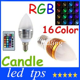 candle led silver prices - LED Brand New Silver Golden 5W E27 E14 Led Candle Lamp RGB 16 Colors Changeable Led Candle Light Bulb Lamp AC85-265V +CE ROHS