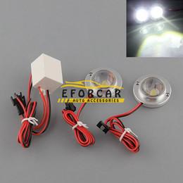 Controlador de luz de emergencia led online-Luces de advertencia de emergencia estroboscópicas de 2 LED para camiones de alta potencia Lámpara de bombilla con controlador 12V 5W Blanco