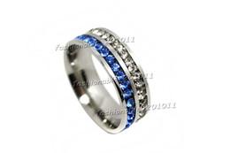 Wholesale Rings 11 Titanium - Titanium Ring Men Women's Wedding Stainless Steel CZ Engagement Sz7 - #11 NEW Gift #rs0124 free shipping