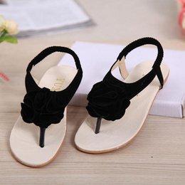 Wholesale Girls Shoe Clips - Wholesale-Summer Korean girls sandals Princess shoes clip toe sandals and slippers women shoes large flowers