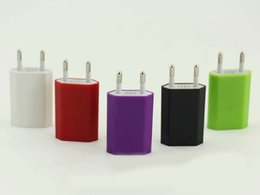 Wholesale Drop Shipping Usb Wall Charger - USB Travel wall charger 1A EU Plug Cell phone Chargers for iPad iPhone SAMSUNG mobile phone charger 1pc drop shipping