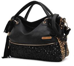 Wholesale Casual One Shoulder Black Dress - 2016 New Fashion Hot Sale casual leopard print bags one shoulder handbag women's handbag leather messenger bag