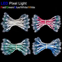 Wholesale Dc5v 9mm Led - Wholesale-100pcs 9mm led pixel module string light DC5V IP68 waterproof channel letters led points light white red yellow blue green