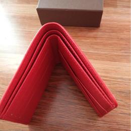 Wholesale Checkbook Purse - 2018 famous pu Letter brand fashion men's short wallet luxury leather wallet men's purse out boxes