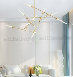 Wholesale Industry Gold - NEW Modern LED chandelier industry style simple dining room lamp living room large LED light MYY