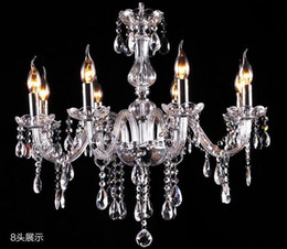 Wholesale Ship Chandeliers Crystal - free ship Wooden packaging Noble Luxurious Export K9 Clear Crystal Chandelier 4 6 8 10 12 15 18 Arms Optional Lustres De Cristal droplight